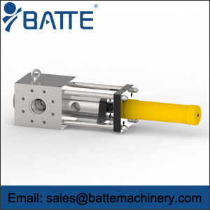 Single pillar hydraulic screen changer